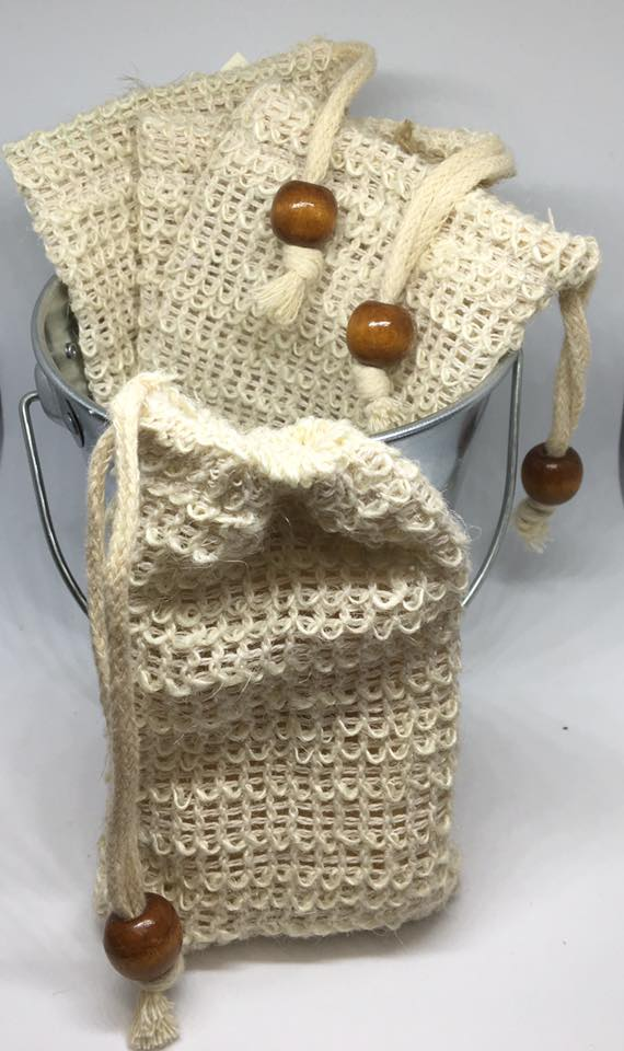 Natural Hemp Soap Bag