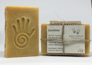 Sunshine is a fresh uplifting scent promoting well being and clarity