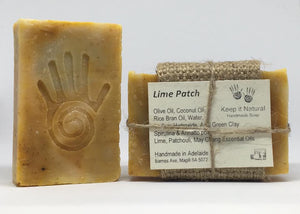 Lime Patch a fiesty invigorating blend of Lime and Patchouli essential oils