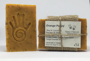 Orange Poppy has mild exfoliating properties using real poppy seeds