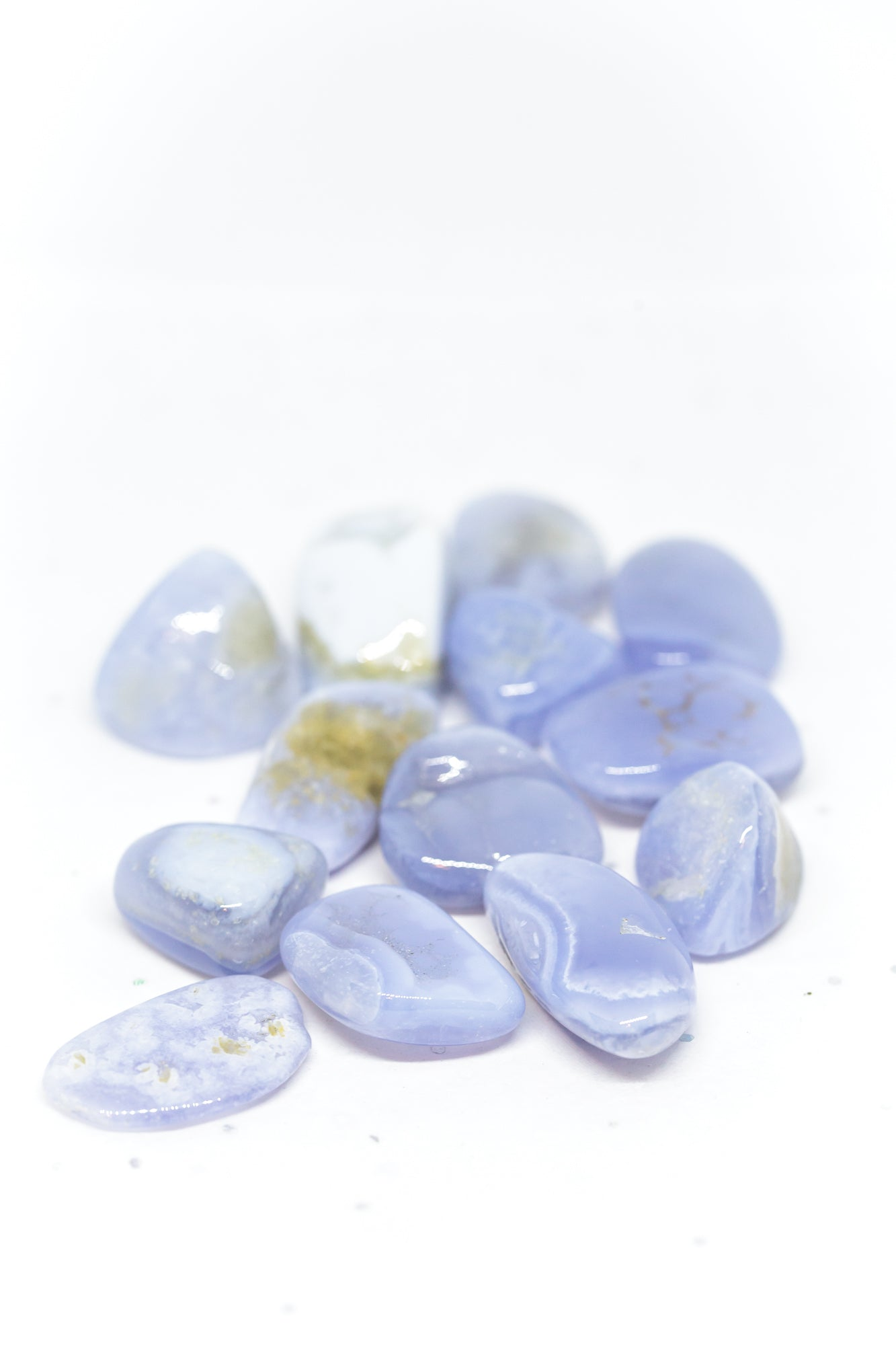 Blue Lace Agate Tumbled, X-Small