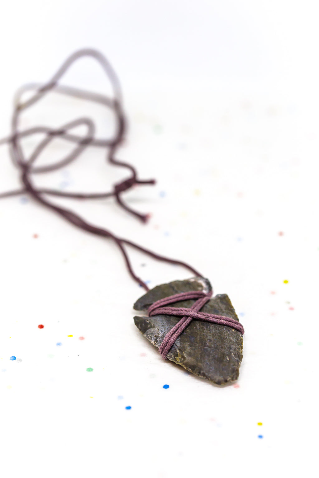 Stone Arrowhead Necklace