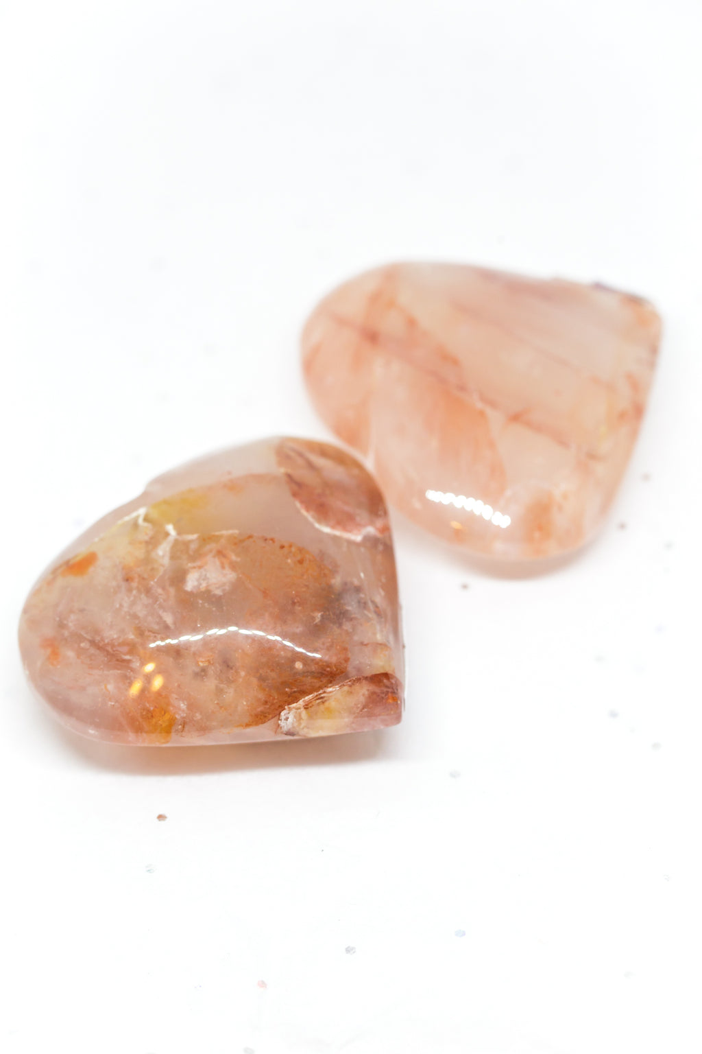 Strawberry Quartz Hearts