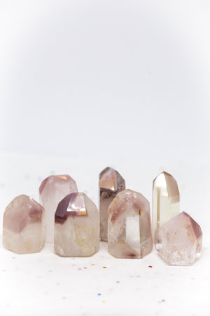 Pink Lithium S, M, L, and XL Polished Points