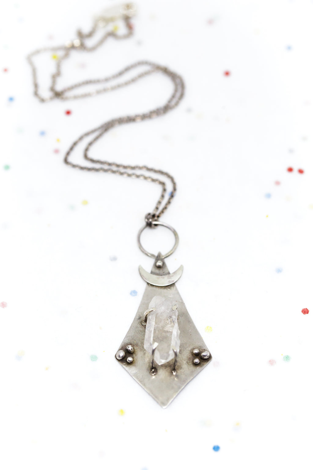 Handmade Moon-inspired Crystal Jewelry by Daisy Metal Works