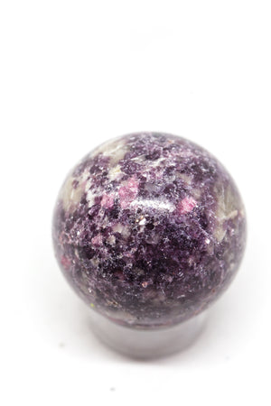 Lepidolite with Tourmaline Sphere
