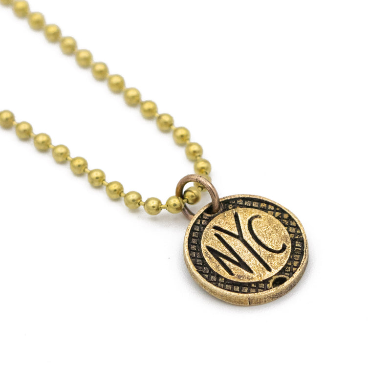 Subway Token Charm Ball Chain