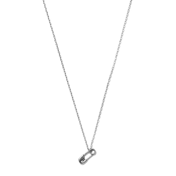 Tiny Safety Pin Necklace | Giles & Brother