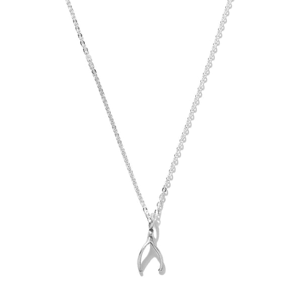 Tiny Wishbone Necklace | Giles & Brother