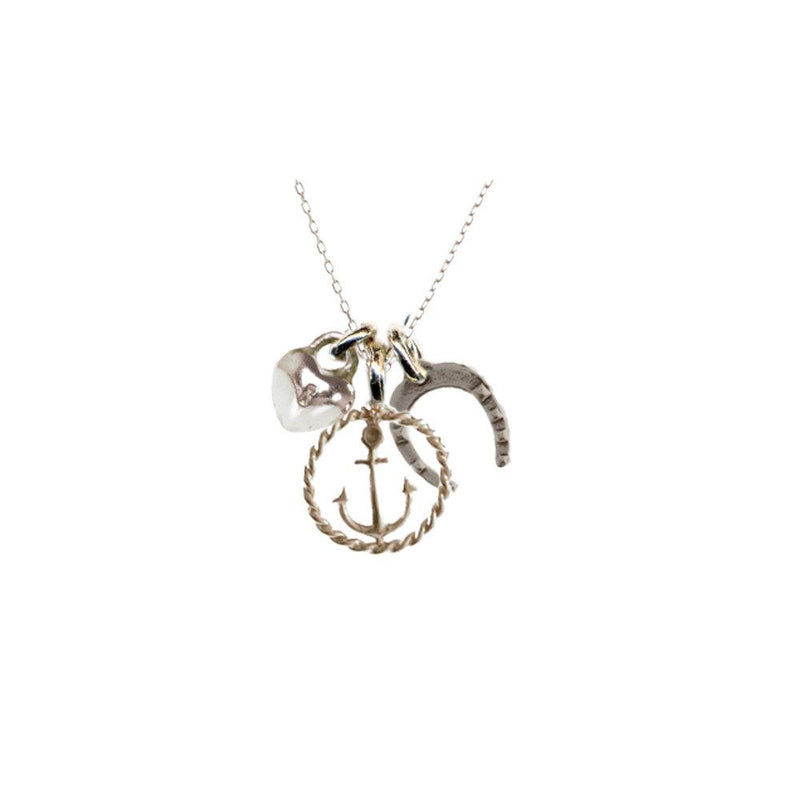 Tiny Luck, Love, And Hope Necklace | Giles & Brother