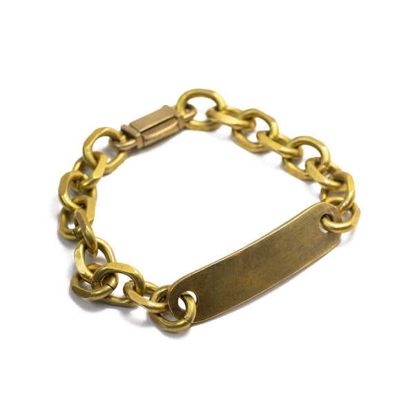 Id Bar Chain Bracelet with Box Clasp