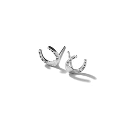 Tiny Horseshoe Earrings | Giles & Brother