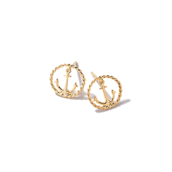 Tiny Rope Anchor Earrings | Giles & Brother