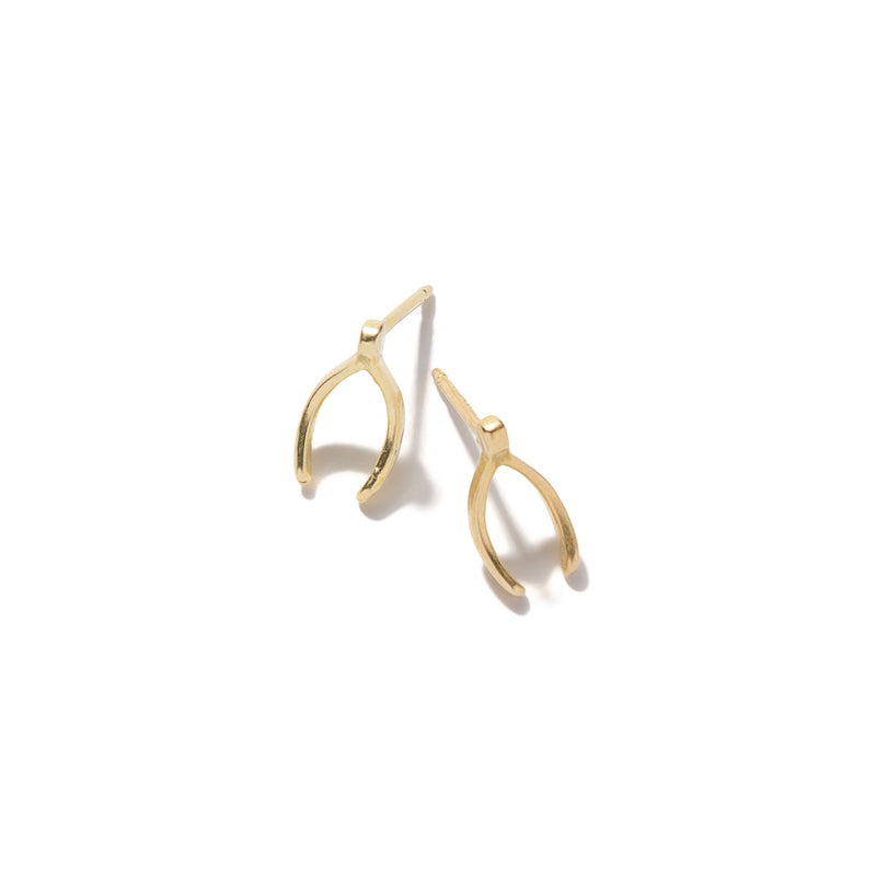 Tiny Wishbone Earrings | Giles & Brother