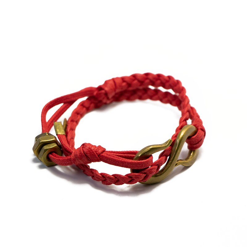 Braided S Hook Wrap Bracelet