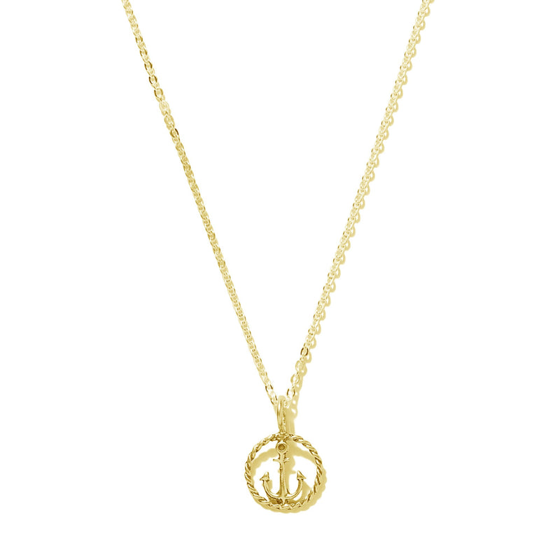Tiny Rope Anchor Necklace | Giles & Brother