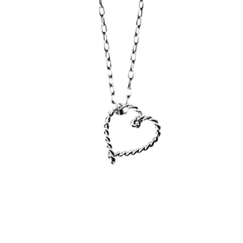 Tiny Rope Heart Necklace | Giles & Brother