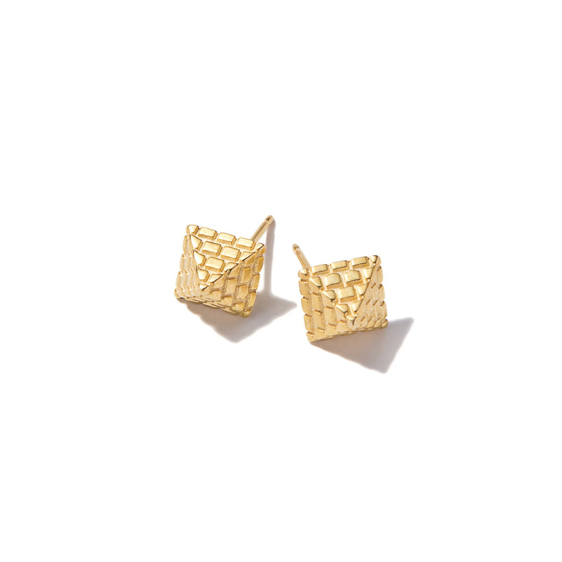 Tiny Pyramid Earrings | Giles & Brother