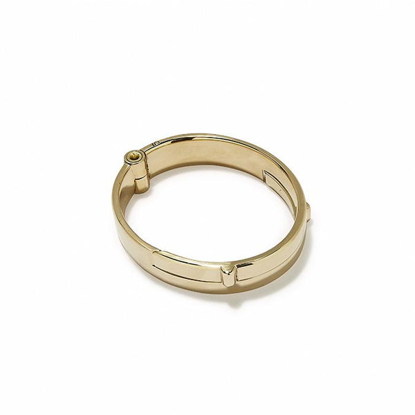 Wide Latch Cuff Gold Polished | Giles & Brother