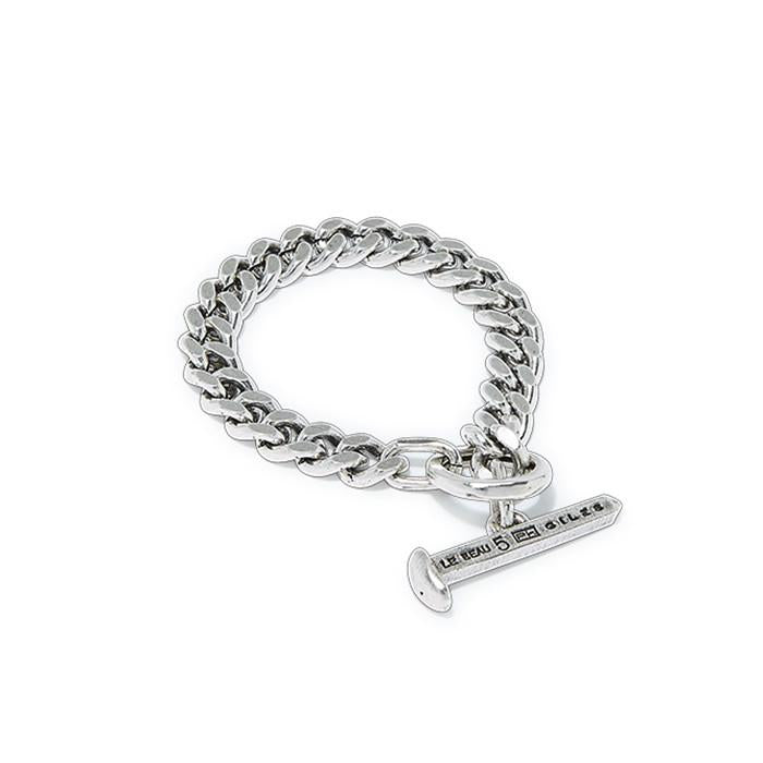 Silver Oxide Toggle Bracelet | Giles & Brother