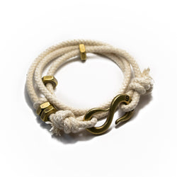 Solid Rope S hook Wrap Bracelet
