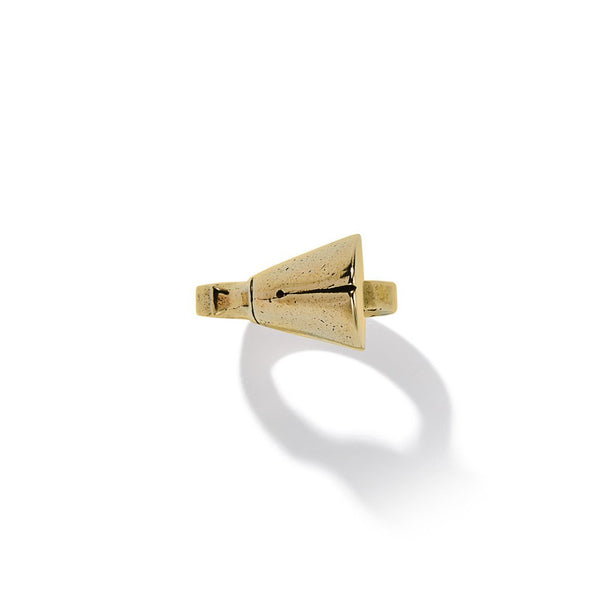 Pied-De-Biche Ring-Single Hoof In Brass | Giles & Brother