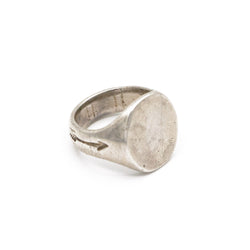 The Sterling Silver Oval Signet Ring