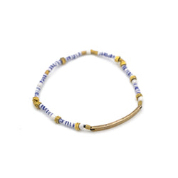 Limited Edition Tiny Striped Beaded ID Bar Bracelet
