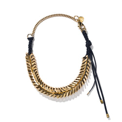 Braided Large Gold Hex Necklace | Giles & Brother