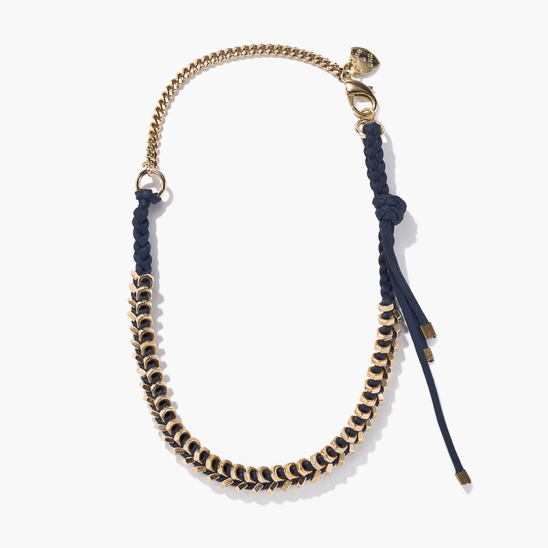 Braided Tiny Gold Hex Necklace | Giles & Brother