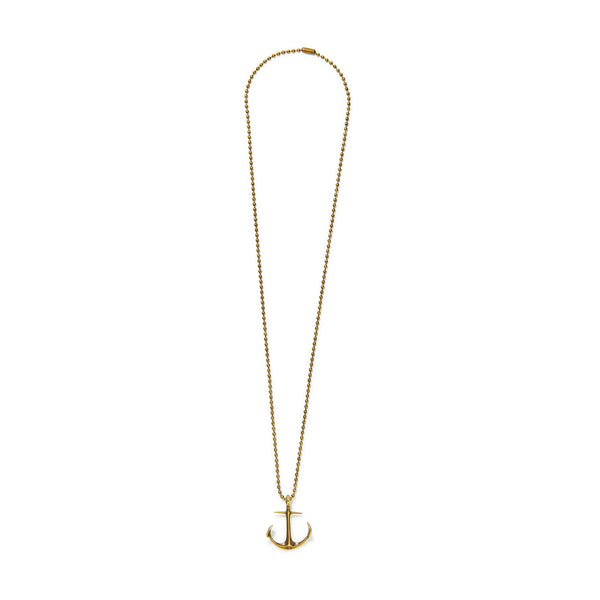 Anchor Ball Chain Necklace