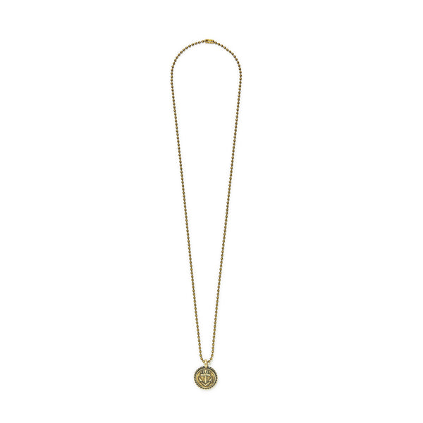 Anchor Charm Ball Chain Necklace | Giles & Brother