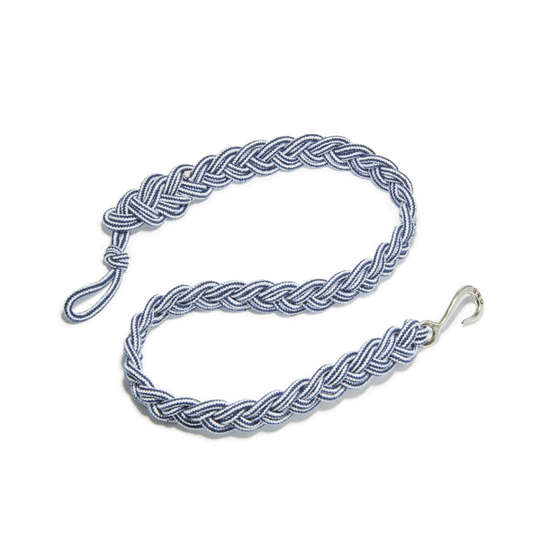 Braided Stripe Rope Belt With Silver Oxide Hook | Giles & Brother