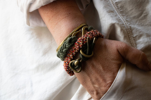 Braided Rope S Hook Double Wrap Bracelet