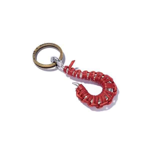 Hook Keyring With Leather Lashing | Giles & Brother
