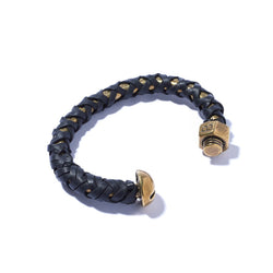 Nut & Bolt Cuff with Leather Lashing | Giles & Brother