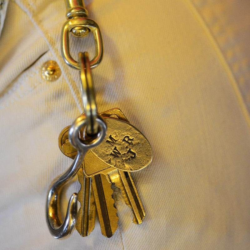 Hook & Dogtag Clip Keyring | Giles & Brother
