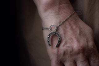 Limited Edition Fine Horseshoe Lariat Bracelet