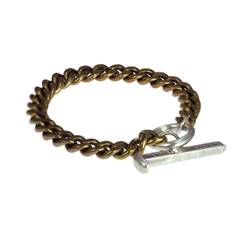 Brass And Sterling Silver Toggle Bracelet | Giles & Brother
