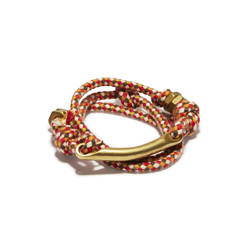 Twisted Hook Mulit Check Rope Wrap Cuff | Giles & Brother