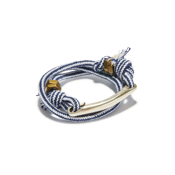 Id Bar Stripe Rope Wrap Cuff | Giles & Brother
