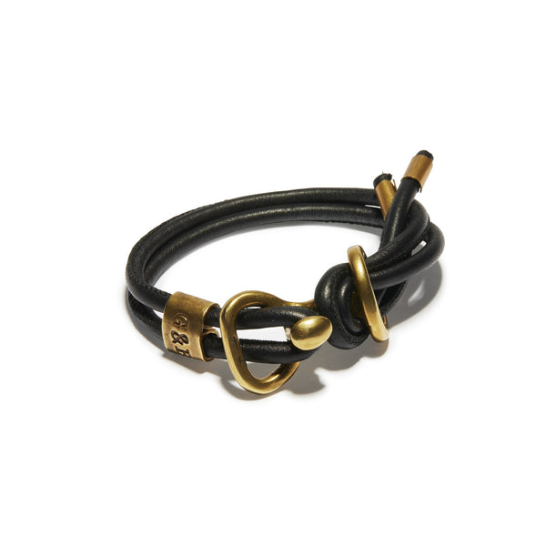 Round Leather Wrap Bracelet | Giles & Brother