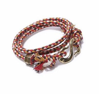 Check Rope S Hook Wrap Bracelet | Giles & Brother