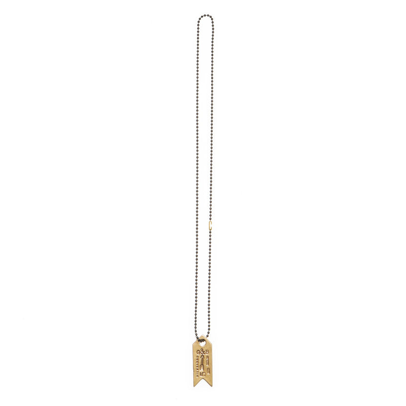 Dog Tag Ball Chain Necklace | Giles & Brother