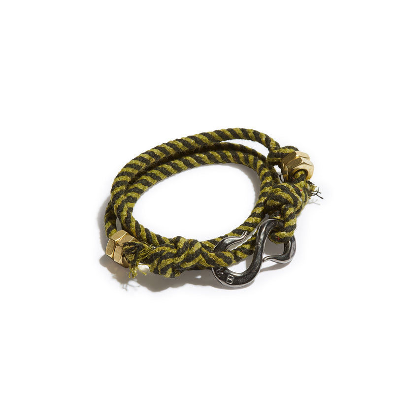 Twisted Stripe Rope S Hook Wrap Bracelet