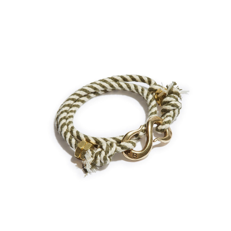 Twisted Stripe Rope S Hook Wrap Bracelet | Giles & Brother