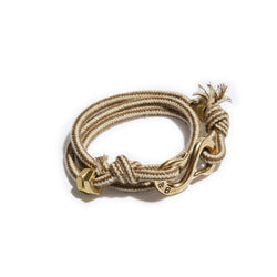 Striped Rope  S hook Wrap Bracelet | Giles & Brother