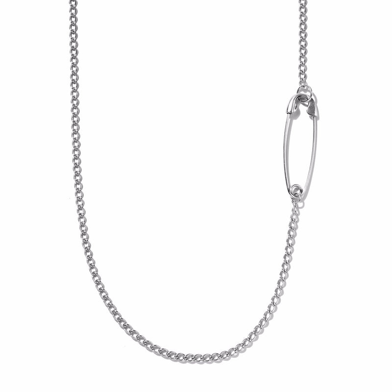 Embedded Safety Pin Necklace | Giles & Brother