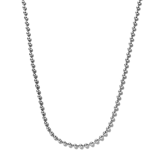 Sterling Silver Ball Chain Necklace | Giles & Brother