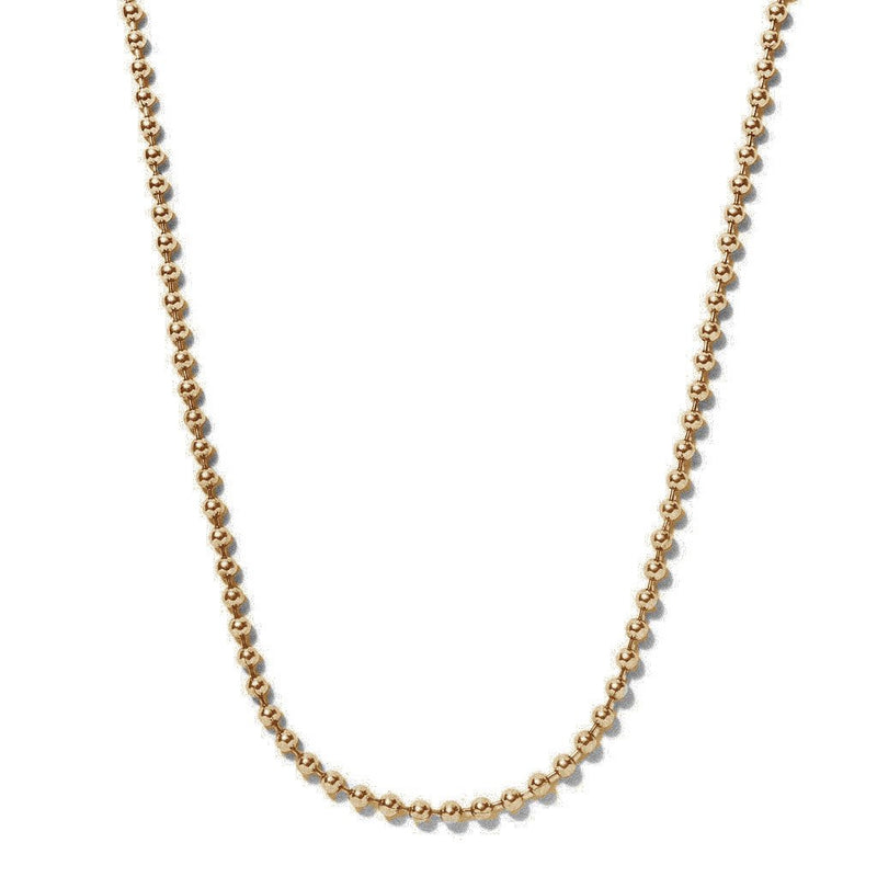 Brass Ball Chain Necklace | Giles & Brother